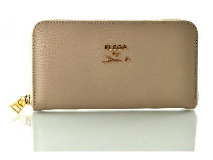 Kožená peněženka ELEGA by Dana M - béžová